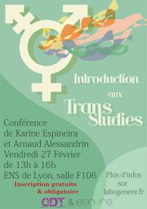 Conférence «Introduction aux Trans Studies»